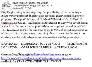 Starkweather Creek Treatment PMI